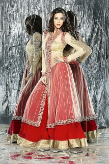 Lacha Style http://www.saahilexclusive.com/categories.php?category=Women/Bridal-Wear/Lacha